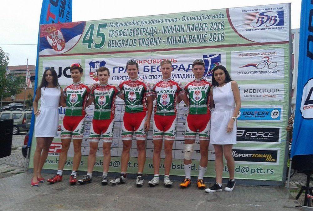 Belgrádban is járt a Kecskeméti Első Sor SE kerékpárosa, méghozzá, Válogatott Mezben!